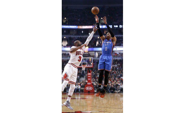 Westbrook y OKC se pasean ante los Bulls