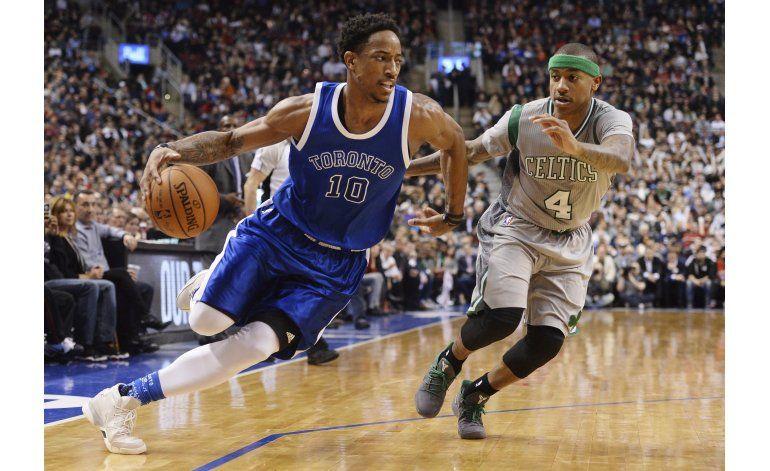 DeRozan lidera remontada de Raptors ante Celtics