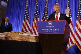 el fuerte cruce de donald trump con un periodista de cnn en su primera conferencia de prensa