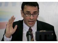venezuela: opositor denuncia riesgo de inhabilitacion