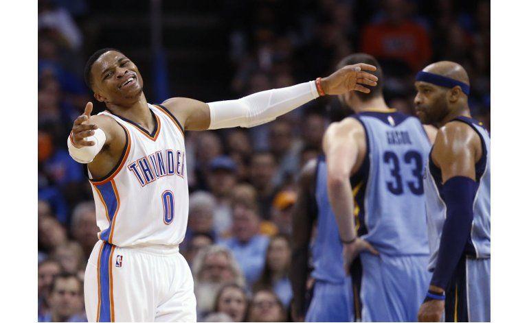 Westbrook alcanza su 18vo triple-doble, OKC vence a Memphis