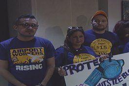 politicos condales buscan ayudar a grupo de trabajadores del aeropuerto internacional de miami