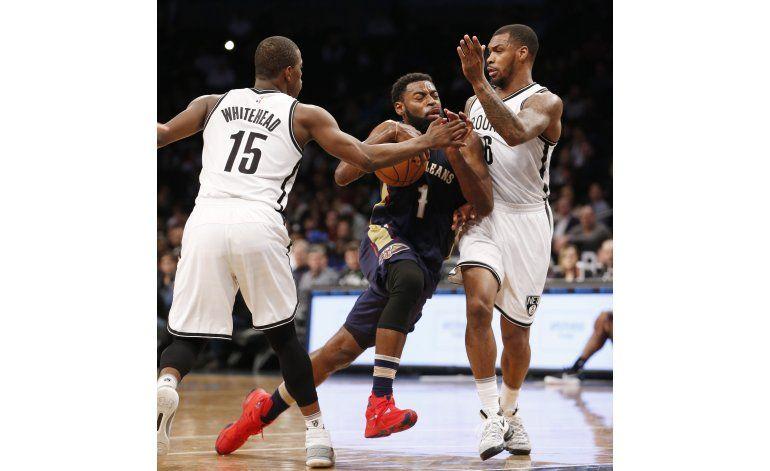 Pelicans sin Davis propinan a Nets su 8va derrota seguida