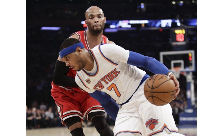 Anthony, Rose, Noah brillan, Knicks vencen a Bulls