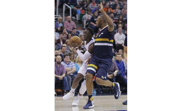 Hood lidera al Jazz en una victoria 110-77 sobre los Pistons