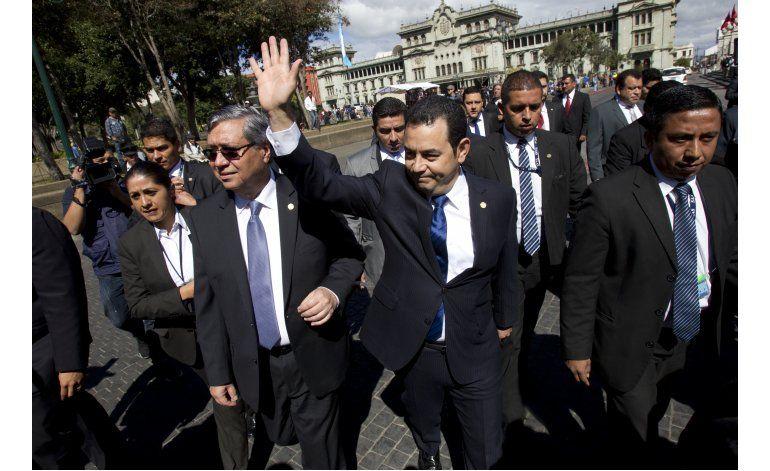 Jimmy Morales rinde cuentas ante el Congreso de Guatemala