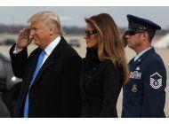 trump llega a washington para ser investido como presidente