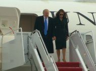 presidente electo donald trump y su esposa melania ya estan en washington