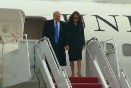 presidente electo donald trump y su esposa melania ya estan en washington