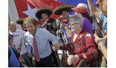Cubanos de Miami celebran llegada de Trump al poder