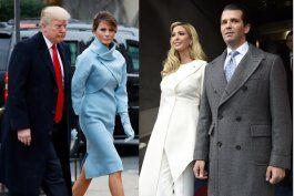 elegancia y  glamour se hizo presente en la toma de posesion de trump