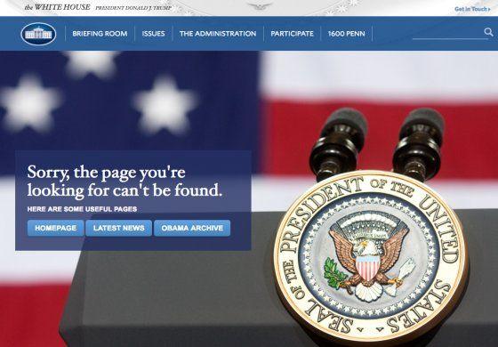La Casa Blanca, elimina el español, política sobre cambio climático, Cuba y el pacto nuclear con Irán en su página web