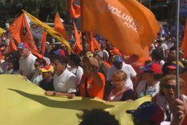 opositores venezolanos piden en las calles elecciones generales adelantadas