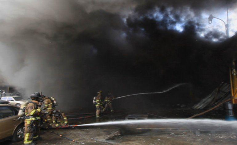 Incendio permitió la captura de un ladrón