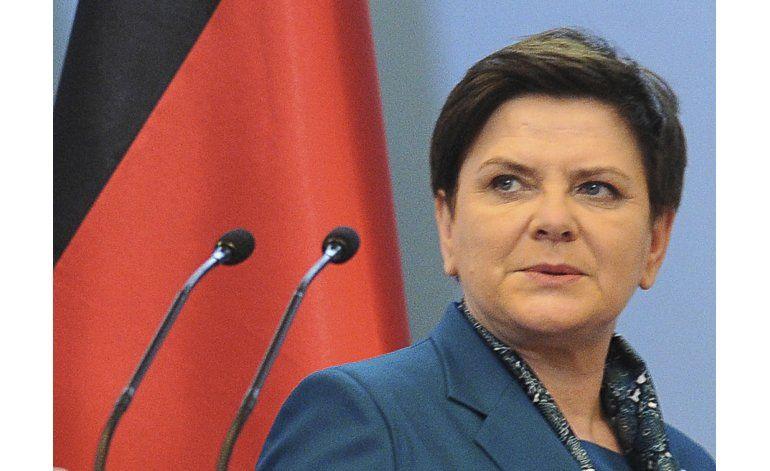 La primera ministra polaca, estable tras accidente de auto