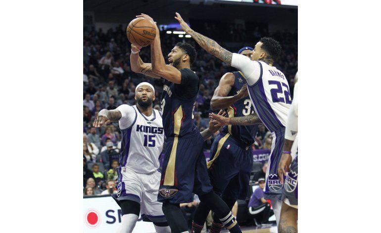 Cousins anota 28 y lidera a Kings en triunfo sobre Pelicans