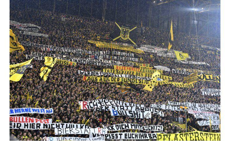 Graderío sur del estadio de Dortmund permanecerá vacío