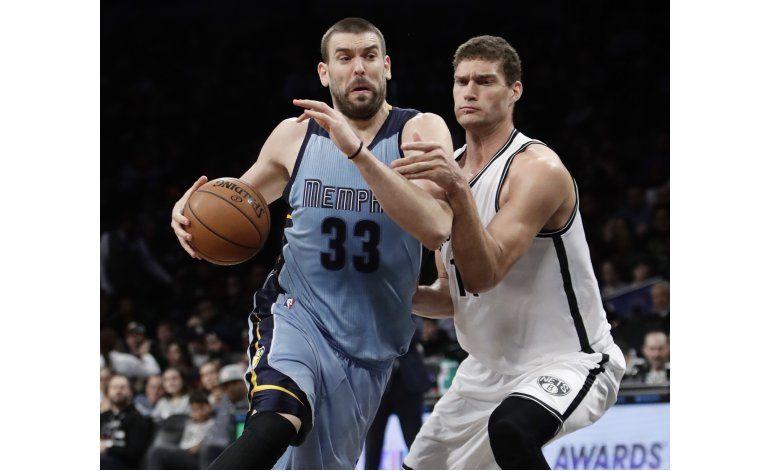 Conley y Gasol lideran victoria de Grizzlies en Brooklyn