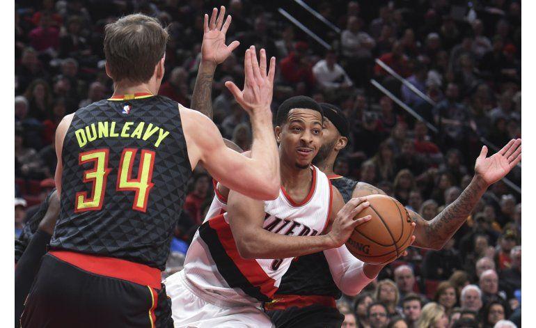Hawks superan 109-104 a Trail Blazers en tiempo extra
