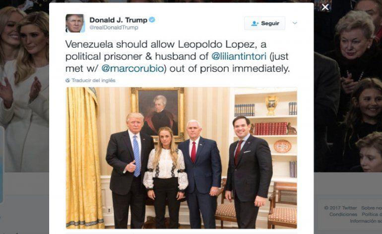 Trump se reunió con Lilian Tintori en la Casa Blanca y pidió por la liberación de Leopoldo López