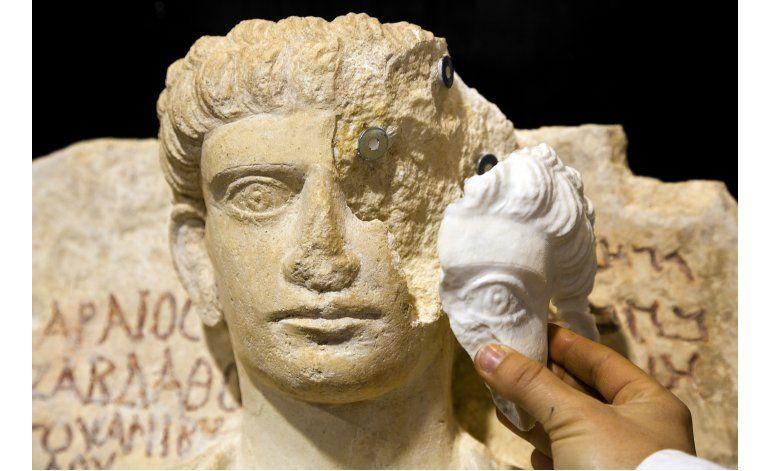 Expertos italianos restauran bustos dañados de Palmira