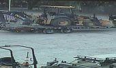 Intensifican búsqueda de tres ladrones  que robaron valiosos equipos pesados de la construcción