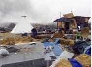 desalojan campamento de manifestantes contra oleoducto