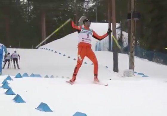 El ridículo debut del venezolano que pisó la nieve por primera vez en un Mundial de Esquí