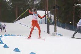 el ridiculo debut del venezolano que piso la nieve por primera vez en un mundial de esqui