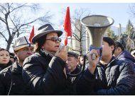 protestas en kirguistan por arresto de lider de la oposicion