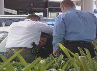policia del doral  capturo a un ladron de bicicletas