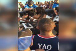 altercado entre joven y oficial de la policia en miami beach