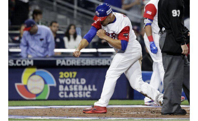 Puerto Rico gana a EEUU, pasa a semis del Clásico de Béisbol
