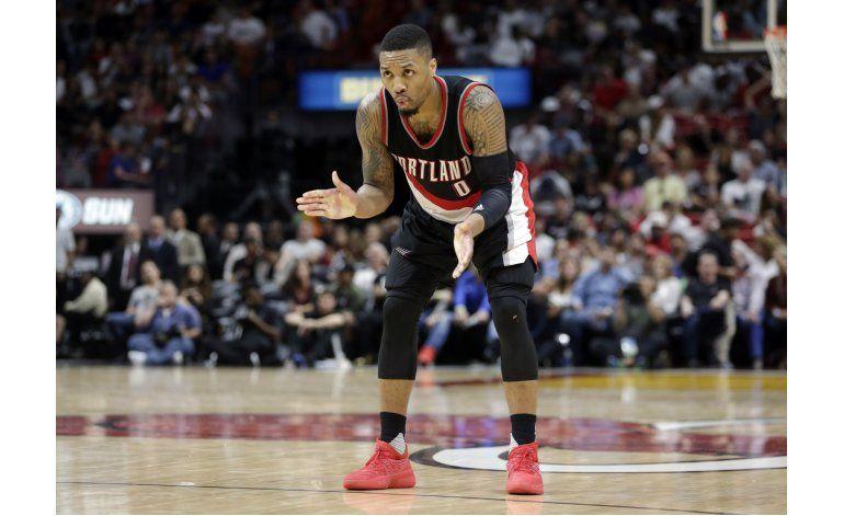 Con 49 de Lillard, Blazers derrotan al Heat