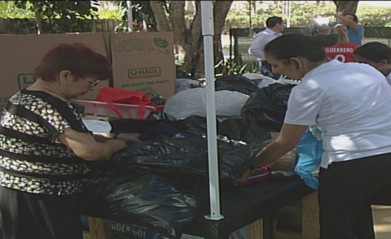 Comunidad de Miami recoge donaciones para ayudar a las victimas de las inundaciones en Perú