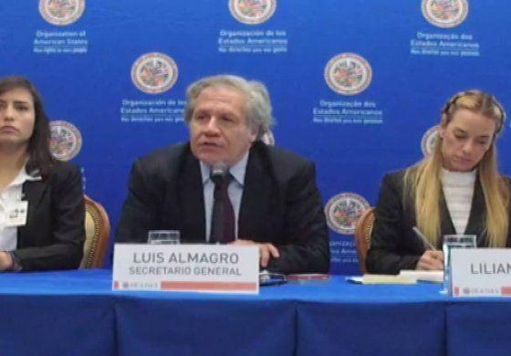 Luis Almagro se reunió en Washington con las esposas de los presos políticos venezolanos
