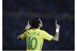 brasil saca pasaje a rusia 2018 al golear 4-1 a uruguay