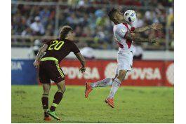 venezuela empata 2-2 con peru, que mira lejos el mundial