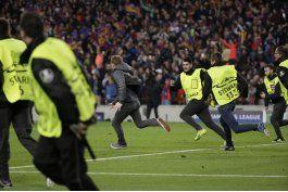 uefa multa al barcelona por celebracion del 6-1 en la cancha