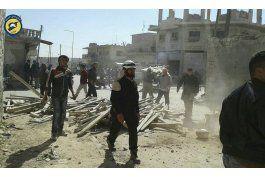 bombardeos en partes de siria controladas por rebeldes