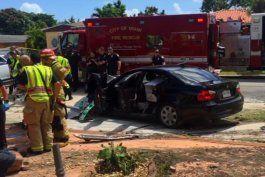 investigan causas de accidente transito en que murio un conductor y varias personas resultaron heridas