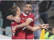 rusia empata 3-3 con belgica con gol en los descuentos