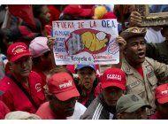 oficialismo marcha en caracas contra la oea