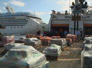 guardia costera muestra toneladas de droga incautada en los ultimos dias