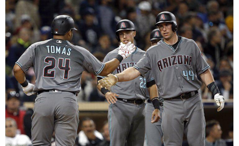 Tomás y Miller lideran triunfo 11-2 de Arizona sobre Padres