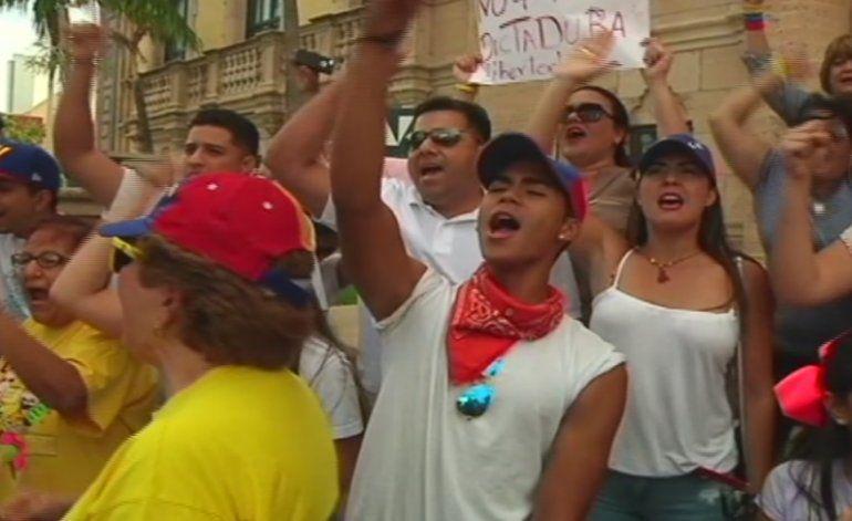 Exilio venezolano en Miami se da cita para manifestarse en contra del régimen de Nicolás Maduro