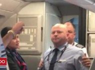 asi fue el momento en que un empleado de american airlines amenaza con golpear a un pasajero