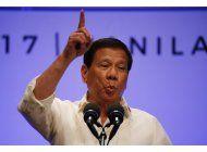 filipinas: trump llamo a duterte para reafirmar alianza