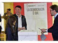 renzi recupera dirigencia del partido democratico en italia