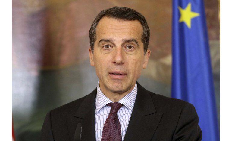 Canciller de Austria vaticina elecciones adelantadas